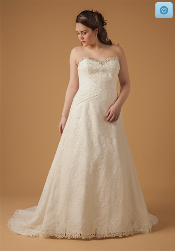 A classic, beautiful A-line gown! Visit theknot.com or kleinfeldbridal.com for more information!